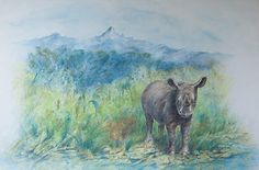 Arty Charity Bid! Wildlife artist Anne Corless takes part in charity auction for The Ol Pejeta Conservancy