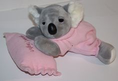 Uni Toy Pink Plush KOALA BEAR Snoring Bedtime Baby Girl Plush Stuffed Soft Toy Australia Good Night Pillow #UniToy #AllOccasion