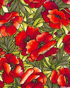 Deco Delight - Oriental Poppy - Scarlet