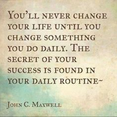 this is so true! think of 1 thing i can change in my routine that would make the biggest impact... mmm maybe if corbin was on a sleep schedule?