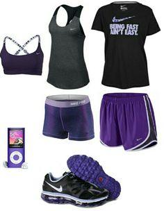 Womens purple nike outfit