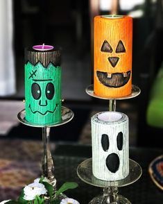 Halloween, Painting, Ideas, Kids Halloween Crafts, Handmade Candles, Carved Candles, Ornaments, Bottles, Candles