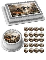HALO REACH 2 Edible Birthday Cake Topper OR Cupcake Topper, Decor - Edible Prints On Cake (Edible Cake &Cupcake Topper)