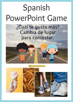 These Spanish PowerPoint games use high-frequency vocabulary and make an excellent get-to-know-you activity. Spanish Classroom Activities, Learning Spanish For Kids, Spanish Games, Class Activities, Teaching Spanish, Learning Italian, Teaching French, Classroom Ideas, Classroom Games