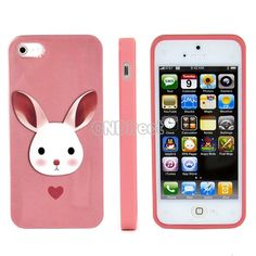 $2.75, Cute Pink Rabbit Themed Cellphone Case Cover Accessory for Iphone 5