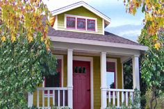 """""""Loring"""" Bungalow Style House Plan - 1 Beds 1 Baths 356 Sq/Ft Plan #915-10 from tumbleweed tiny houses   http://www.tumbleweedhouses.com/pages/cottages/"""