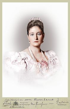 Princess Alix of Hesse and by Rhine (Empress Alexandra Feodorovna of Russia).