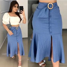 Plus size outfits Skirt Outfits, Chic Outfits, Fashion Outfits, Dress Fashion, African Fashion Dresses, African Dress, The Dress, Dress Skirt, Skirt Suit