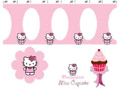 Hello Kitty CUPCAKE_THEME_STAND_rose-lots of other Hello Kitty printables here
