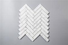 "SAMPLE Carrera (Carrera) Bianco 1x4"" Herringbone Mosaic"