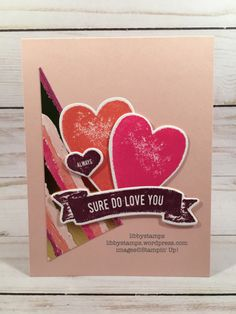 libbystamps, stampin up. CCMC, Lots to Love Box Framelits, Sure Do Love You, Sure Do Love You Bundle Valentine Day Love, Valentine Day Cards, Holiday Cards, Valentine Ideas, Heart Cards, Card Making Inspiration, Love Cards, Love And Marriage, Greeting Cards Handmade