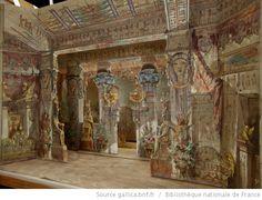 [Aïda : Acte I, tableau 1 : salle du palais du Pharaon : maquette de décor en volume / Emile Daran] - 7