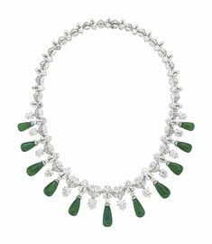 A DIAMOND AND EMERALD NECKLACE | Christie's