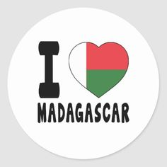 Shop I Love Madagascar Classic Round Sticker created by Huntermind. Madagascar Flag, Political Events, National Flag, Dog Bowtie, Round Stickers, Free Paper, Custom Stickers, Flags, Kids Outfits