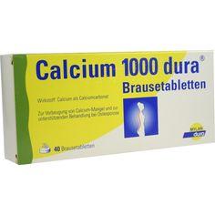 CALCIUM 1000 dura Brausetabletten:   Packungsinhalt: 40 St Brausetabletten PZN: 07730291 Hersteller: Mylan dura GmbH Preis: 9,65 EUR…