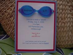 Invitation anniversaire enfant/ado thème piscine/vacances.