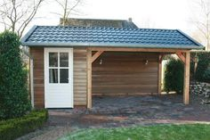 Guest House Plans, Garden Cabins, Attached Pergola, Backyard Sheds, She Sheds, Shed Storage, Garden Care, Wooden Diy, Amazing Gardens