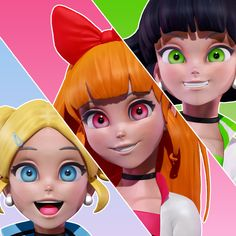 The Powerpuff Girls , Michael Oliveira Powerpuff Girls Cartoon, Powerpuff Girls Wallpaper, Boys Wallpaper, Cute Disney Wallpaper, 3d Character, Character Design, Super Nana, Ppg And Rrb, Animated Cartoons