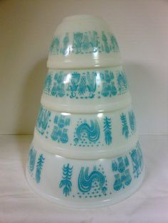 Huge Pyrex Sale This Weekend Only!!.Vintage Pyrex Amish Butterprint  Nesting Bowls set of 4 on Etsy, $57.00