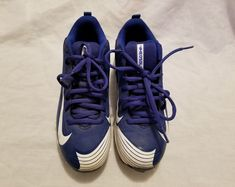 a59f8e53d22 Nike Blue BSBL Vapor Baseball Cleats Sneakers Kids Size US 3.5Y UK 3 EUR  35.5  Nike