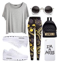"""""""Untitled #715"""" by artiola-fejza ❤ liked on Polyvore featuring Chicnova Fashion, Moschino and LAUREN MOSHI"""