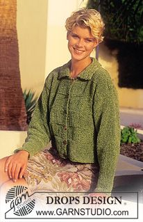 DROPS 51-4 - DROPS Cardigan in Cotton Chenille - Free pattern by DROPS Design