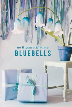 Catch the essence of spring by making our paper bluebell flowers! These are pretty, simple, and springy! #larsmakes
