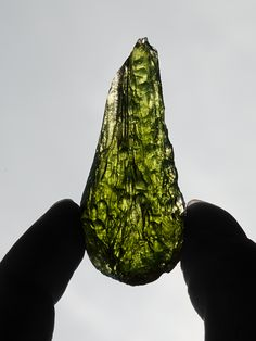 More rare than rubies or sapphires, moldavite is a bottle-green translucent…