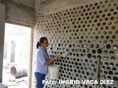 Casas hechas con botellas de cristal