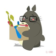 Day 70. Totoro is not cut out for corporate life.