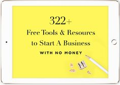 Marie Forleo - Tools and Resources for starting a business with no money.