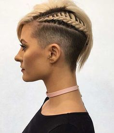 3-Braids for Short Hairstyle