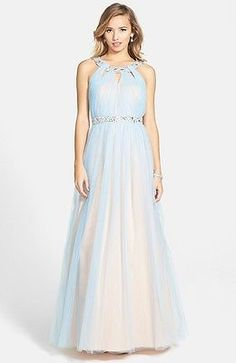 NEW WAY IN Embellished Ballgown DRESS GOWN SIZE 9 (8) $168 POWDER BLUE LATEST! | eBay