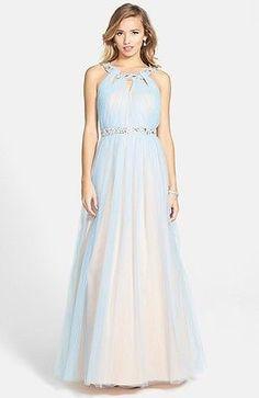 NEW WAY IN Embellished Ballgown DRESS GOWN SIZE 9 (8) $168 POWDER BLUE LATEST!   eBay