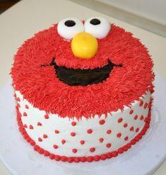 Elmo Cake for an Elmo Birthday Party