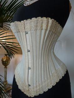 MARINA Corset antique Corset Victorian Corset by MadameFlorence