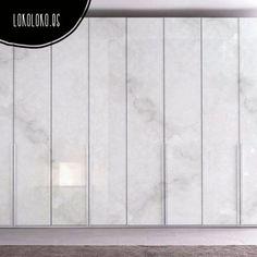 Vinilo para puertas de armario. Impresión de textura de mármol blanco