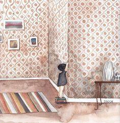 "• Adventure of a little black dress • .  CHAPTER 9 . ""Knowledge is power"" .  and books do help self-growth. .  #bysoosh #illustrator #illustration #topcreator #drawing #sketch #sketching #sketcheveryday #watercolor #watercolorsketch #watercolordrawing #arte #girl #concept #boho #cute #littleblackdress #book #inspiring_watercolors #love #art_we_inspire #inspiration #freedom #kids #children #dibujo #art #artwork #365 #primitive"