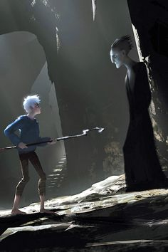 Jack Frost and Pitch - jack-frost-rise-of-the-guardians Photo