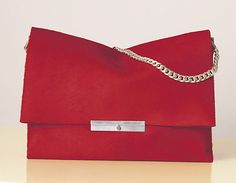 Celine Blade Bag in Red with Chain