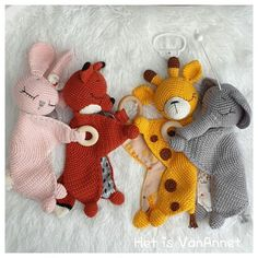 Crochet Lovey, Crochet Baby Toys, Crochet Diy, Crochet Amigurumi, Crochet Toys Patterns, Baby Knitting Patterns, Stuffed Toys Patterns, Crochet For Kids, Crochet Animals