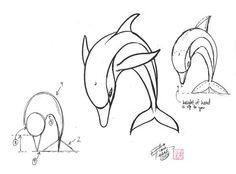 Dessiner un dauphin 2 1601