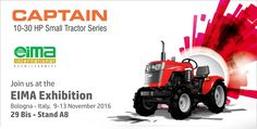 """Captain tractors Heartly invite you to international exhibition """"EIMA at Bologna, Italy We are manufacturing mini tractors for farmers which can be used in small fragmented area with all capabilities like big tractor. And we are going to participate in the EIMA International Exhibition at Bologna, Italy Date : 9-13 November, 2016 Place: Bologna, Italy We will be happy to see you at the exhibition and our stall as well."""