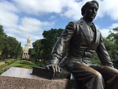 The statue of Judge R.E.B. Baylor at Baylor University.
