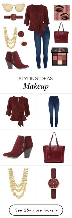 """Going Casual"" by bravegirly on Polyvore featuring River Island, Charlotte Russe, Topshop, Huda Beauty, Skagen, Carol Dauplaise Jewelry, Marco Bicego and Illesteva"