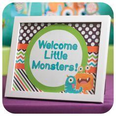 Little Monsters; Little Monsters Party; Monster Birthday Party; Little Monsters Birthday Party;Little Monster; Little Monster Birthday Signs by KraftsbyKaleigh on Etsy https://www.etsy.com/listing/253210188/little-monsters-little-monsters-party