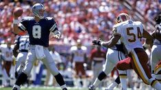 Throwback Thursday: Aikman's 5 TDs Leads Cowboys Past Redskins In Comeback Thriller Dallas Cowboys Football, Football Team, Football Helmets, Troy Aikman, Tight End, Wide Receiver, Running Back, Washington Redskins, Throwback Thursday