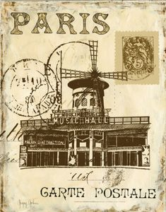 Antique 'Paris' Postcard, Imagine the Stories, If It Could Speak of Its Romantic Travels !? [From All Posters.com] ~:<3