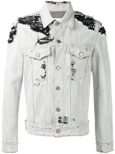 GOLDEN GOOSE Distressed Denim Jacket. #goldengoose #cloth #jacket