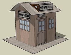 PAPERMAU: The Nowhere RR Station Paper Model - by Chris Longvallon
